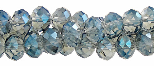 Crystal Beads, Rondelle INDIAN SAPPHIRE AB 10mm