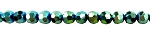 Crystal Beads, 8mm Round GREEN TEAL Metallic