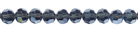 Crystal Beads, 8mm Round MONTANA BLUE