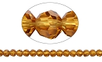 6mm Round Crystal Beads TOPAZ