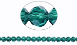 6mm Round Crystal Beads Dark Aqua TEAL