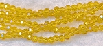 Crystal Beads, 3mm Round YELLOW
