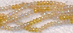 Crystal Beads, 3mm Rondelle CITRINE and TOPAZ Designer Mix