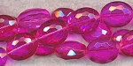 16x12mm Oval Crystal Beads HOT PINK Fuchsia