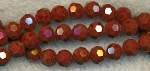 6mm Round Crystal Beads RED CHOCOLATE