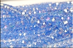 Crystal Beads, 6mm Rondelle LIGHT SAPPHIRE AB
