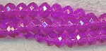 8mm Hot Pink Fuchsia Rondelle Crystal Beads