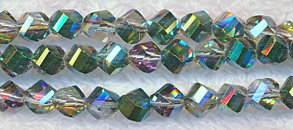 Helix Crystal Beads, MYSTIC TOPAZ TEAL 6mm