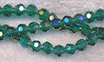 6mm Round Crystal Beads TEAL AB