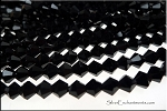 Crystal Beads, 6mm Bicone JET BLACK
