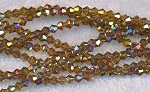 4mm Bicone Crystal Beads TOPAZ AB