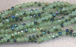 4mm Rondelle Crystal Beads JADE Metallic TEAL