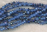 4mm Rondelle Crystal Beads Blue JADE Metallic BLUE
