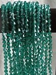 8mm Bicone Crystal Beads GREEN TEAL