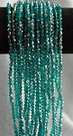 4mm Bicone Teal AB Crystal Beads