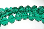 Crystal Beads, 10mm Rondelle EMERALD