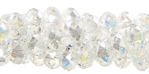 Crystal Beads, 6mm Rondelle CRYSTAL AB
