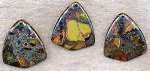 Jasper and Pyrite Pendant, Mosaic Gemstone Pendant, Earth-tones 42x38mm (1)