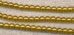 6mm Round Golden Yellow Glass Pearl Beads