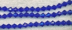 Glass Beads, Bicone SAPPHIRE 6mm