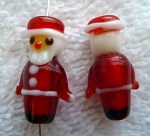 Lampworked Glass Bead Santa Claus Bead Christmas Beading Focal