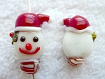 Snowman Beads, Lampworked Glass Bead, Christmas Beading Focals (1)