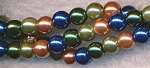 6mm Round Glass Pearls Designer Mix JEWEL