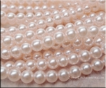 8mm Glass Pearls, LIGHT PINK - CLEARANCE