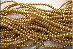 4mm Golden Brown Glass Pearls
