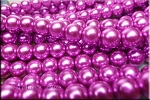 10mm Glass Pearls, PURPLE FUCHSIA Glass Pearls