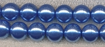 6mm Round Glass Pearls LIGHT SAPPHIRE Blue