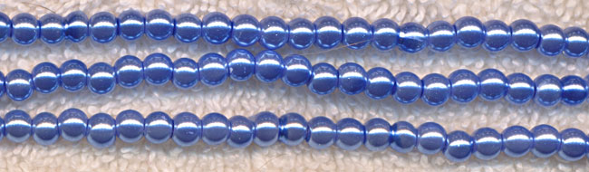 Glass Pearls, 4mm LIGHT SAPPHIRE BLUE