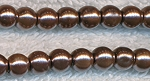 4mm Round Glass Pearls Golden BROWN