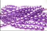 Glass Pearls, 12mm LAVENDER PURPLE