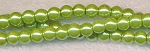 6mm Round Glass Pearls PERIDOT