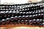 Blue Goldstone Beads, 4mm Round