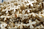 15mm White Magnesite Pinwheel Cross Beads