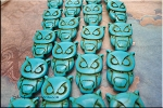 ZSOLDOUT / Turquoise Beads, Owl