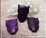 Carved Stone Owl Pendant Bead