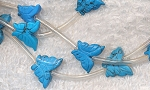 Turquoise Howlite Carved Butterfly Beads