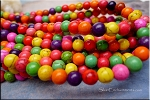 8mm Round Mulitcolor Howlite Beads