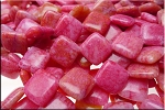 18mm Hot Pink Milk Jade Diamond Jasper Beads