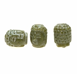 ZSOLDOUT / Buddha Bead Pendants, Green Jade 3D 20x15mm