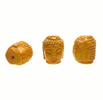 Buddha Bead Pendants, Jade 3D 28x22mm