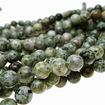 ZSOLDOUT - Jasper Beads, 8mm Round Moss Green Spotted Jasper Beads