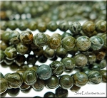 Alligator Jasper Beads, 4mm Round