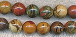 12mm Round Red Creek Jasper Beads