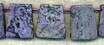 ZSOLDOUT - Jasper Beads, Purple Paddle Pendants 25x22mm