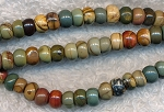 ZSOLDOUT - Red Creek Jasper Beads, Rondelle 6mm