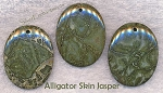 Alligator Jasper Pendant, Alligator Skin Jasper Focal Pendant, 45x34mm (1)